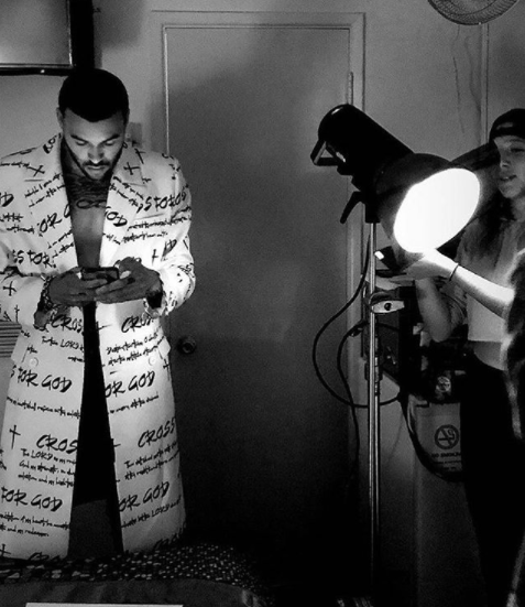 ivanbittonstylehouse  #bts  from fashion editorial starring America's next top model  @antmvh1  and digital superstar  @itsdonbenjamin  wearing our Taiwanese designer  @crossforgod  styled by  #teambitton   @styledbyyvonne  fashion provided by  #ivanbittonstylehouse  #