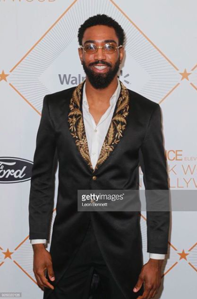 ivanbittonstylehouse  @voguemagazine best dressed actor  @officialcam30  strikes the  @essence   #oscars  luncheon wearing our designer from Pakistan  @amiradnanofficial fashion and style provided by  #ivanbittonstylehouse  #