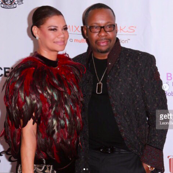 ivanbittonstylehouse Spotted! The legendary American performer Bobby Brown  @kingbobbybrown  wearing a coat by our Pakistani designer  @amiradnanofficial  with his wife  @aliciaebrown  wearing a coat by our French designer  @theroyalsparis  and a clutch by our Spanish designer  @IBBAN_espana  at the  @bobbikristinaserenityhouse  gala in Los Angeles. Styled by  #teambitton   @ivanbitton and  @aarongomezp  Fashion provided by  #ivanbittonstylehouse