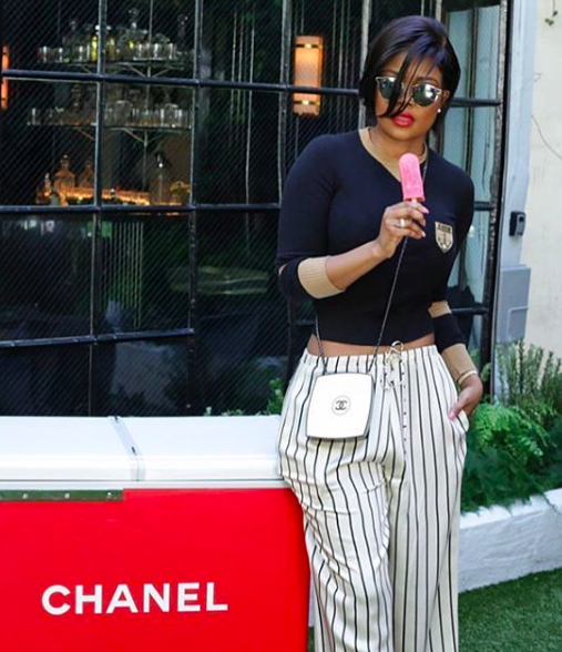 ivanbittonstylehouse Spotted! digital influencer celebrity  @karencivil  wearing pants made by our fabulous designer from Istambul  @nuofficial  styled by  @shellystyles fashion provided by  #ivanbittonstylehouse  #style