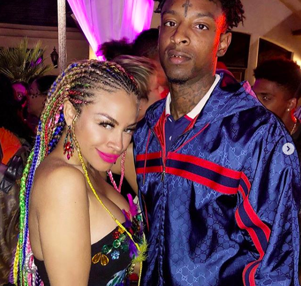 Spotted at @coachella ! Hip hop superstar @21savage and The beautiful Pop opera star @charissemills wearing a dress by our designer @novoselsavic Styled by #teambitton @nichejoy Fashion provided by #ivanbittonstylehouse #coachella2018