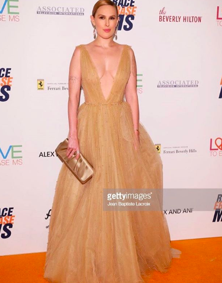 Hollywood Royalty  @rumerwillis  taking over the  @racetoerasems  red carpet last night with a gown by our Croatian designer  @matijavuica  Styled by  @stylistjenrade Fashion provided by  #ivanbittonstylehouse