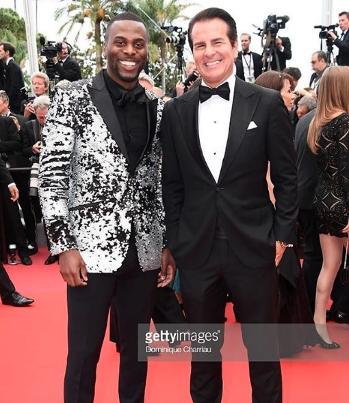 Fun at the  #cannes film festival red carpet with  @artistundenied  and  @vincentdepaul12 slaying our fashion designers  @barabasmen  for the  #solo  movie premiere fashion and style provided by  #ivanbittonstylehouse  #fashion  #style  #celebrity