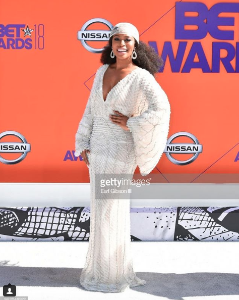 A lister international actress and face of both  @lorealhair  and  @neutrogena  the gorgeous  @nomzamo_m looking Devine at the  @bet  awards red carpet wearing our jewelry designer  @rougebyroojamir  styled by  @iamhdiddy fashion provided by  #ivanbittonstylehouse  #celebrity  #style  #fashion  #bet
