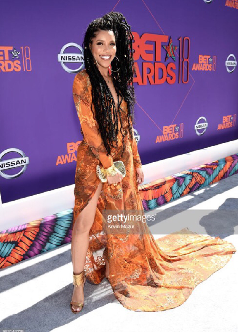 @hbo  star  @watchjazzy  from hit show  #theleftovers rocking the red carpet at the  @bet  awards wearing our designers  @lisanicolecloud manage by  @dreamhousembg  and  @bangslove  styled by  @dutchtheomen fashion provided by  #ivanbittonstylehouse . #style  #celebrity  #fashiondesigner