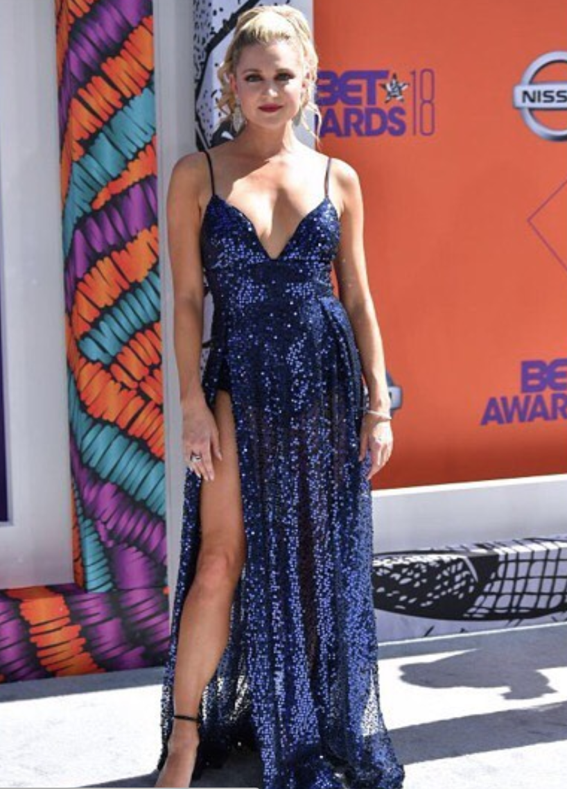 @thecw  and  @bet star  @katbailess  from hit show  @hitthefloor strikes the  @bet  awards red carpet wearing our designer from Australia  @abyssbyabby styled by  @ashantimozelle  fashion provided by  #ivanbittonstylehouse . #fashion  #celebrity  #style  #bet  #cw