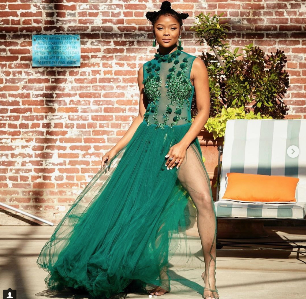 Gorgoeus actress from hit tv show  @13reasonswhy  @ajionaalexus  looking Devine wearing our designers  @jontedesigns   @hayariparis styled by  @all_about_andre  fashion provided by  #ivanbittonstylehouse  #celebrity  #style  #fashion  #looks  #13reasonswhy  #fashiondesigner