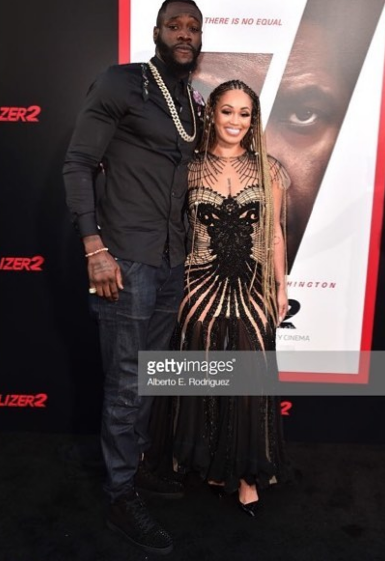 @eentertainment star from hit tv show  #wags   @telliswift  and boxing superstar champion  @bronzebomber  rocking the  #thereisnoequal  red carpet premier wearing our designers  @matijavuica  styled by  #nikko  fashion provided by  #ivanbittonstylehouse