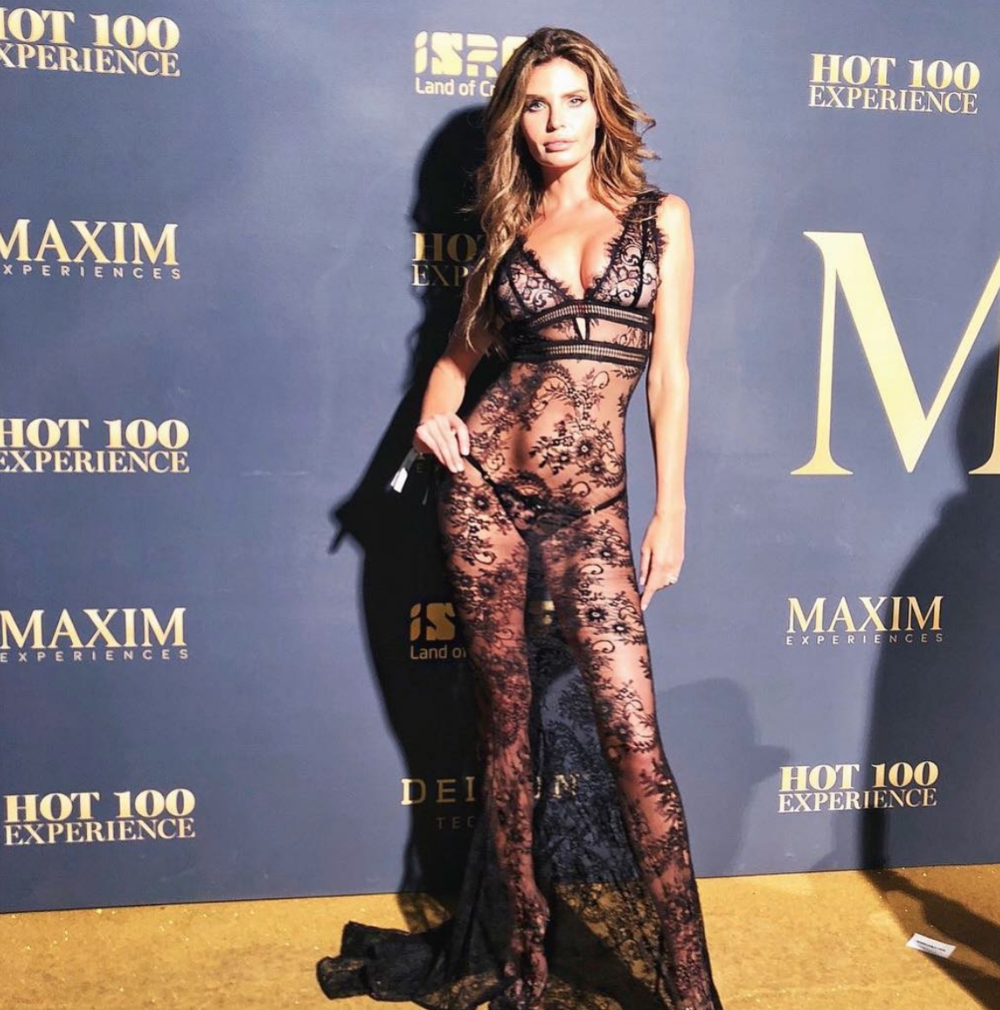 Super model and face of  @guess  the super gorgeous  @julialescova  slaying our designers  @abyssbyabby  at the  @maximmag  #hot100  red carpet fashion and style by  #ivanbittonstylehouse