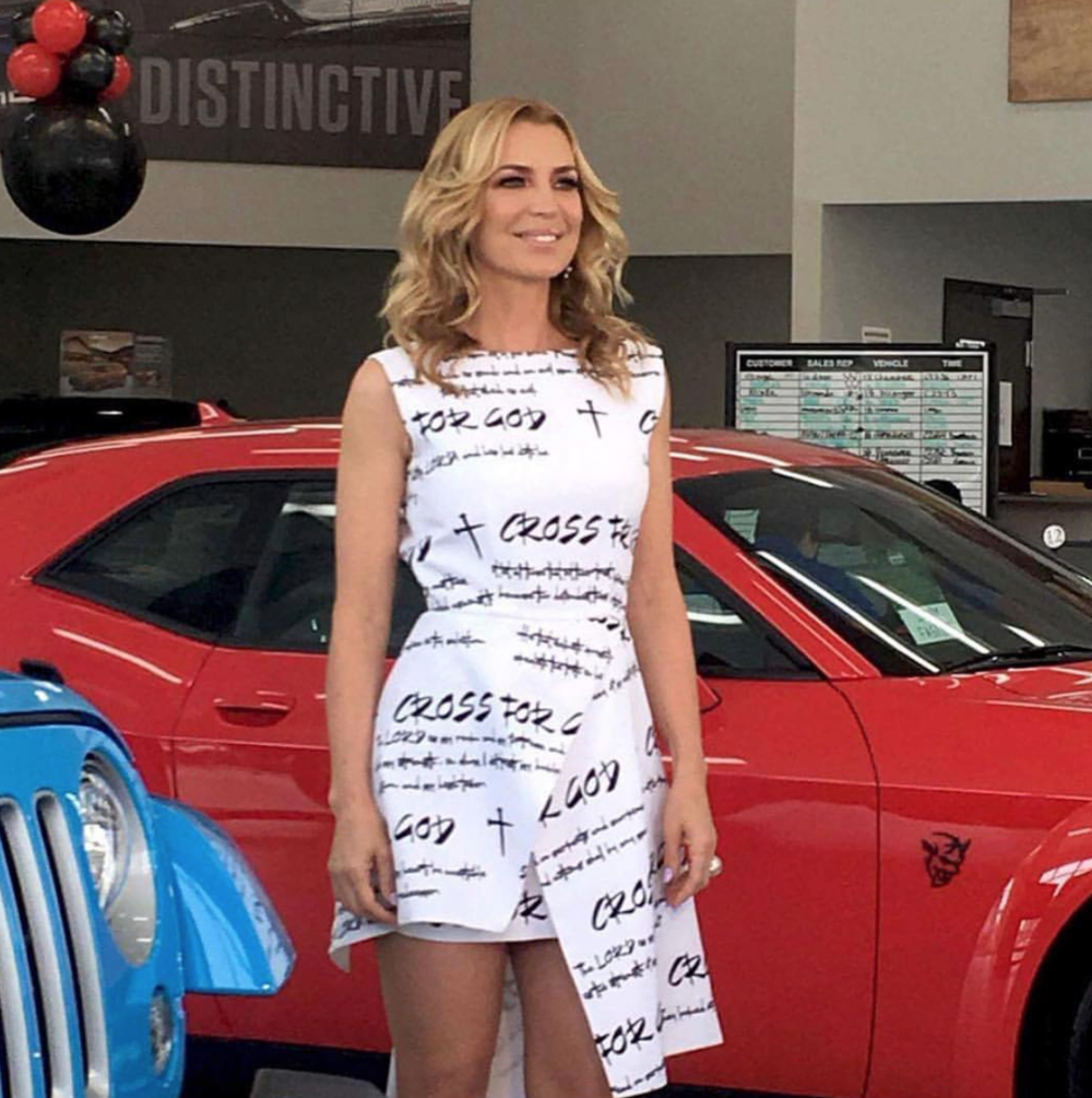 @canalestrellatv  tv star  @sandravidalla  from hit Spanish tv show  @rflatinatv  spotted wearing our designers  @crossforgod  fashion and style provided by  #Ivanbittonstylehouse