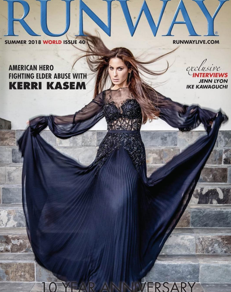 Gracing the Cover for  @runway  magazine hollywood radio royalty  @kerrikasem  looking super regal wearing our designers  @theroyalsparis styled by  @juliaperrystyle  fashion provided by  #ivanbittonstylehouse
