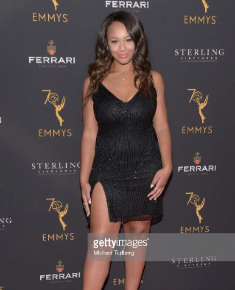 The star from 'the bold and the beautiful ' @boldandbeautifulcbs  and  @lifetimetv  @dancemomstv  Super star  @niasioux rocking our Australian designer  @jontedesigns  designs ( managed by  @a.us_official  ) at the Emmys  @televisionacad  pre party last night. Styled by  @btmarie  Fashion provided by  #ivanbittonstylehouse