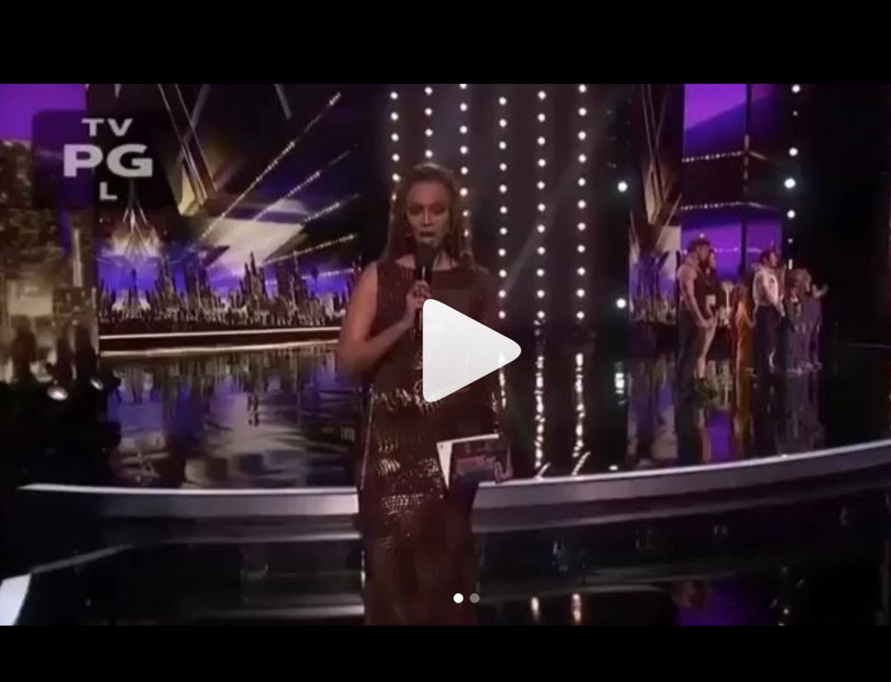 @nbc  tv host on the hottest show 'America's got talent'  @agt  is superstar  @tyrabanks  looking dashing wearing our designer  @novoselsavic  styled by  @JStyleLA  fashion provided by  #ivanbittonstylehouse