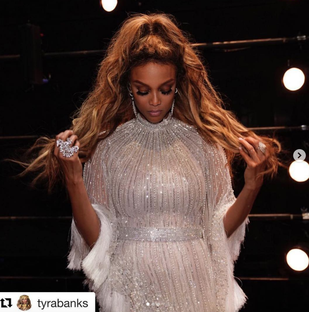 #Repost   @tyrabanks with  @get_repost  ・・・ America's Got Tyra!  #agtsTYle  - That Dress:  @labourjoisie   @stylepr   That Ring:  @ivanbittonstylehouse   That Face:  @valentefrazierartistry   That Hair:  @misscopeland310   That Style:  @jstylela  📷:  @geewonder ••••••••••••••••••••••••••••••••••••• super star  @tyrabanks  Slaying the  @agt  #americasgottalent  Hit  @nbc  Tv show wearing our brilliant jewelry designer's both rings and earrings  @sambacjewelry Styled by  @JStyleLA  fashion provided by  #ivanbittonstylehouse