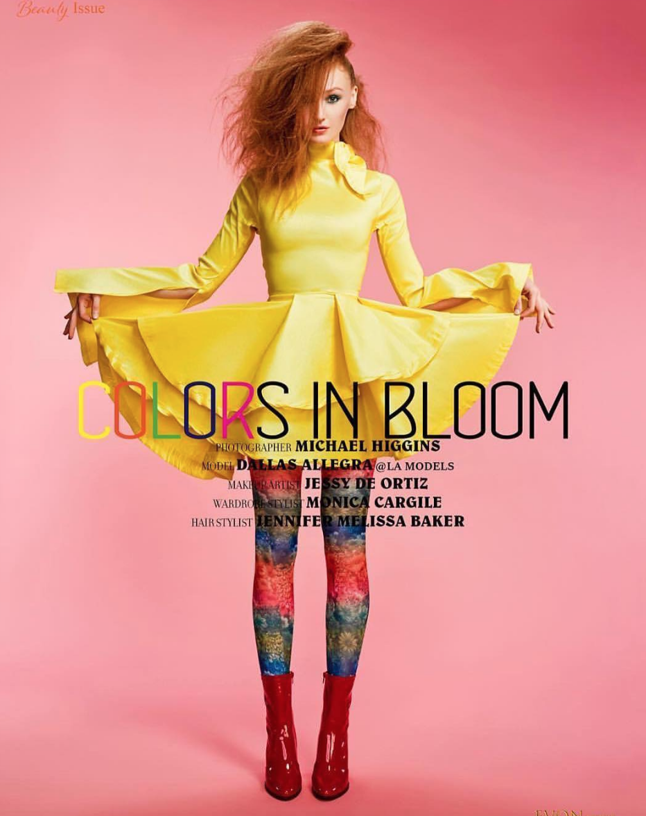 Yellow fashion on  @evonmagazine  featuring our designer  @fancybyfrancescawatson  styled by Monica Gargile fashion provided by  #ivanbittonstylehouse