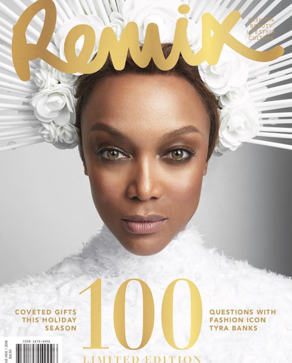 BREAKING NEWS! High fashion cover Done for @remixmagazine starring fashion icon @tyrabanks wearing both our designers @novoselsavic and @jessebelleboutique styled to perfection by celebrity stylist @jstylela fashion provided by #ivanbittonstylehouse #fashion #style #tryabanks #remixmagazine $remix100