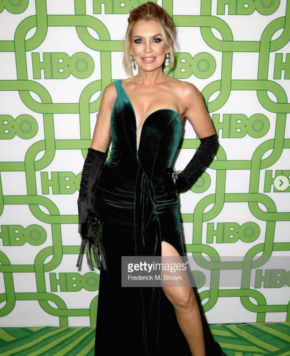 Spotted! At the  @goldenglobes  2019  @hbo  after party the reality tv queen  @sandravidalla  from  #1  hit show  @rflatinatv  wearing a dress by our designer  @evamejl  , shoes and gloves by our designer  @aida.novosel  , a clutch by our designer  @laureldewitt  , a ring by our designer  @sambacjewelry  and earrings by our designer  @hayariparis  . All fashion and styling provided by  #ivanbittonstylehouse