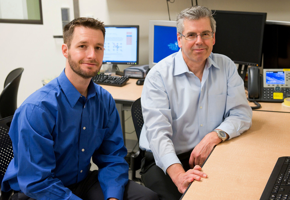 Jeffrey Iliff (left), a brain scientist at Oregon Health & Science University, has been studying toxin removal in the brains of mice. He'll work with Bill Rooney, director of the university's Advanced Imaging Research Center, to enroll people in a similar study in 2016.  Courtesy of Oregon Health & Science University