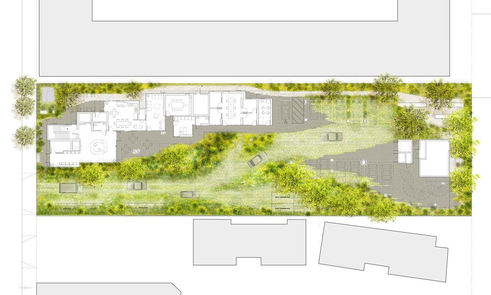 Crest Apartments - landscape plan
