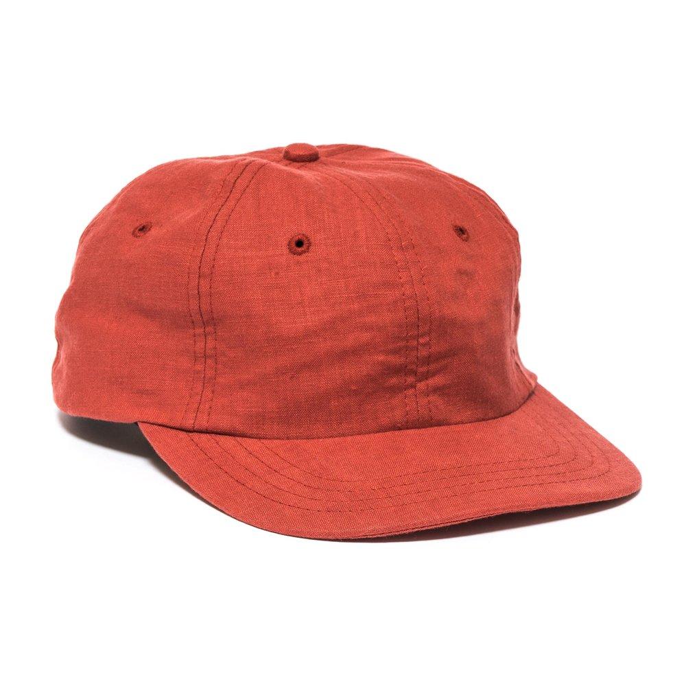 LINEN MESA CAP RED $98