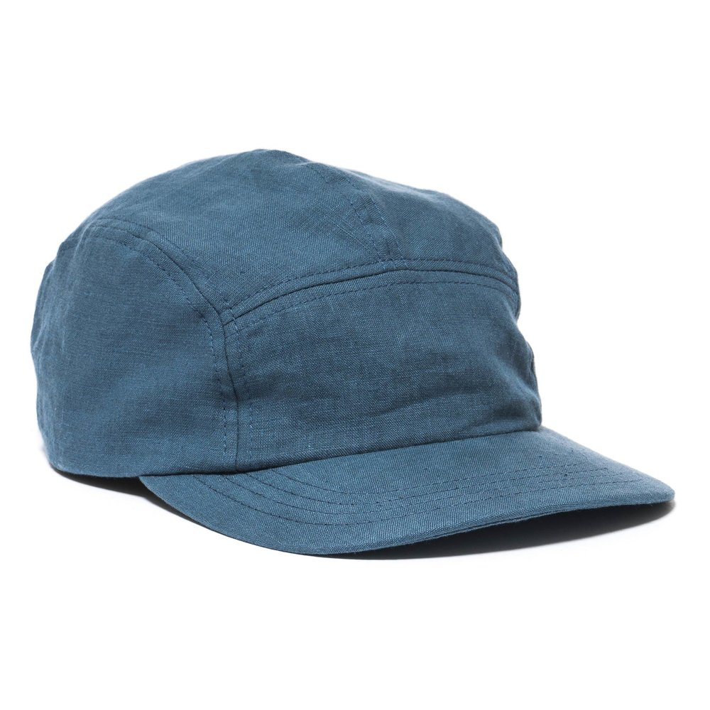 LINEN TRAIL CAP BLUE $98