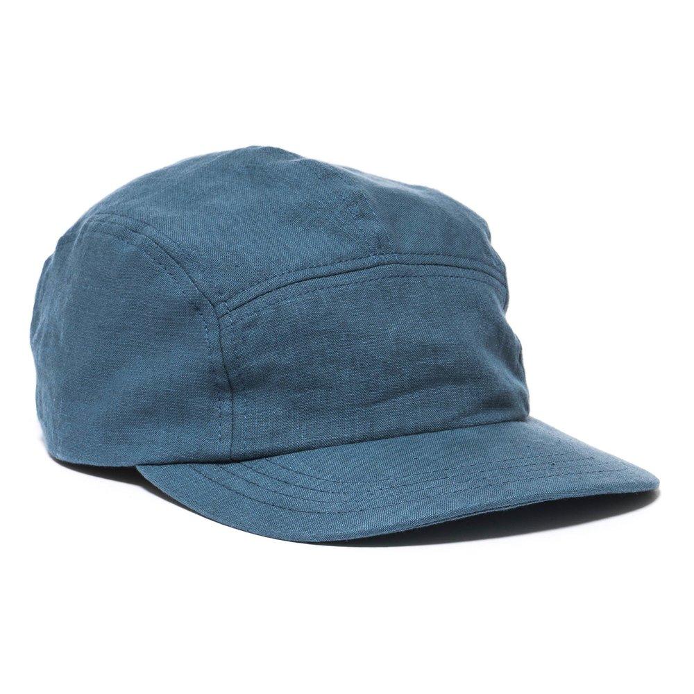 LINEN TRAIL CAP BLUE $98