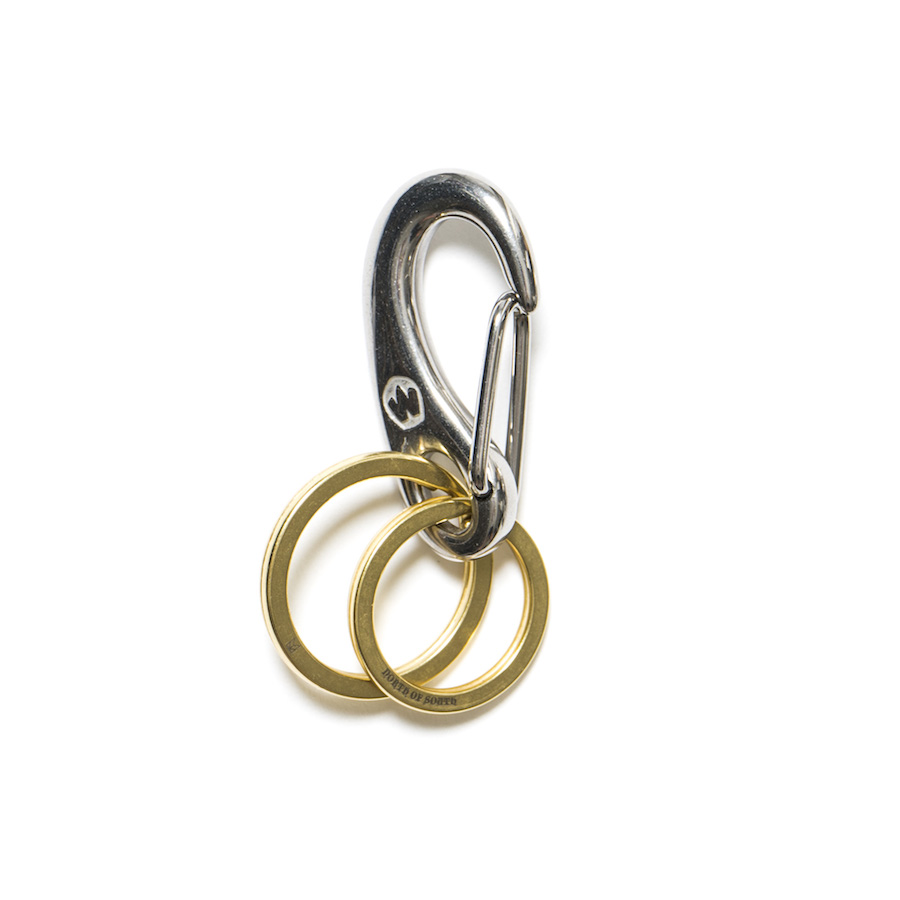 DOUBLE RING SNAP BRASS $114