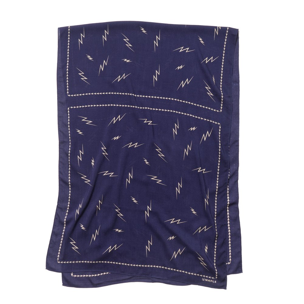BIG BOLTS SCARF NAVY $130