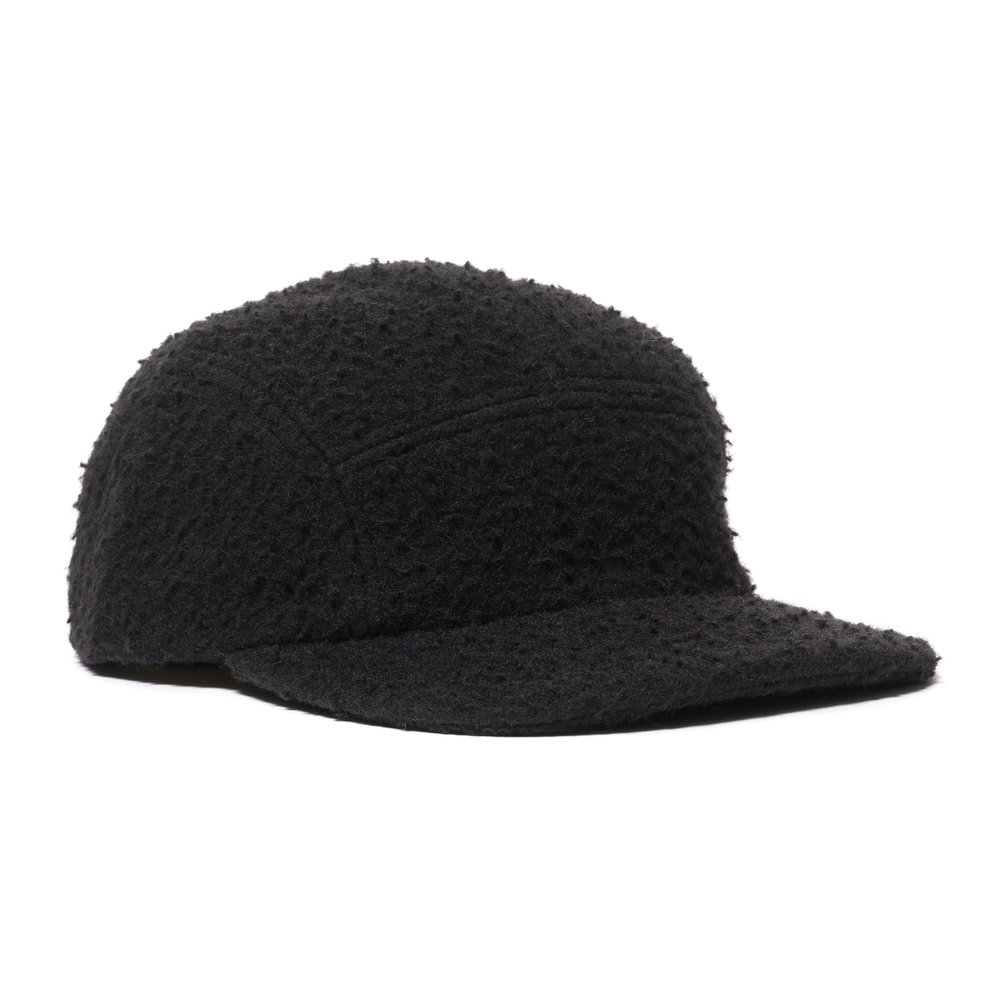 CASENTINO WOOL TRAIL CAP BLACK $120