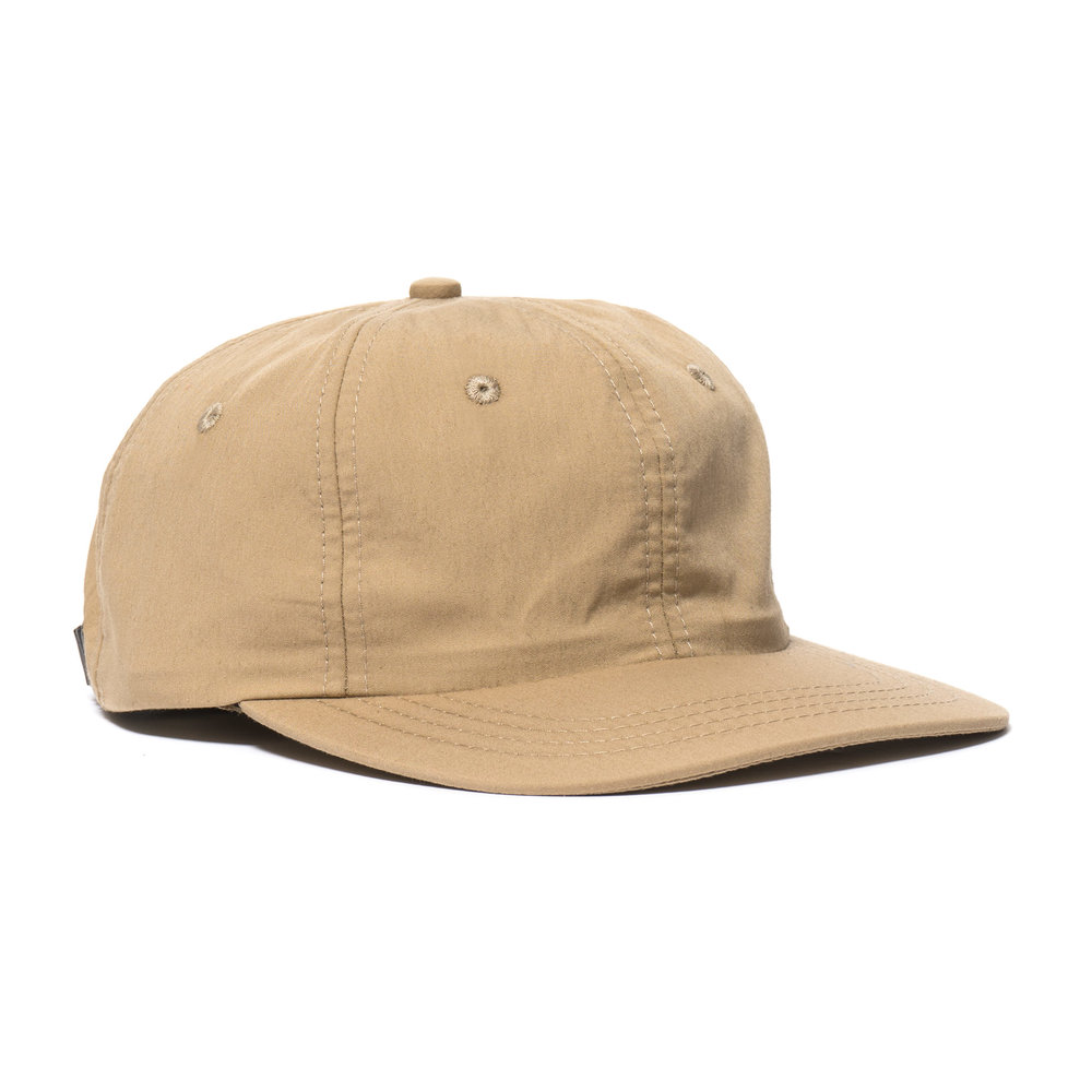 WEATHERCLOTH BALL CAP TAN $100