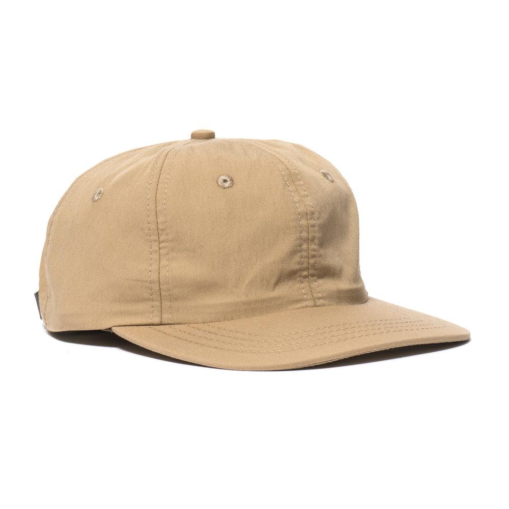 WEATHERCLOTH BALL CAP TAN $100