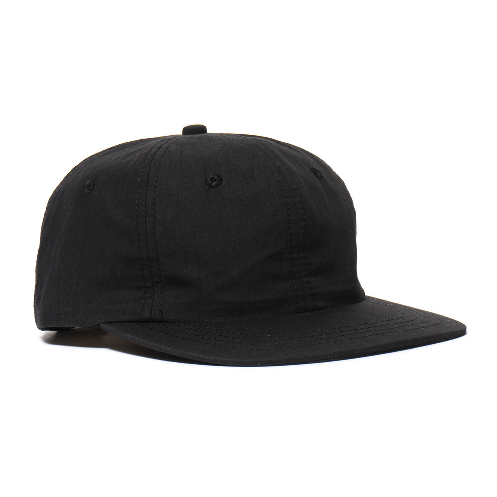 WEATHERCLOTH BALL CAP BLACK $100