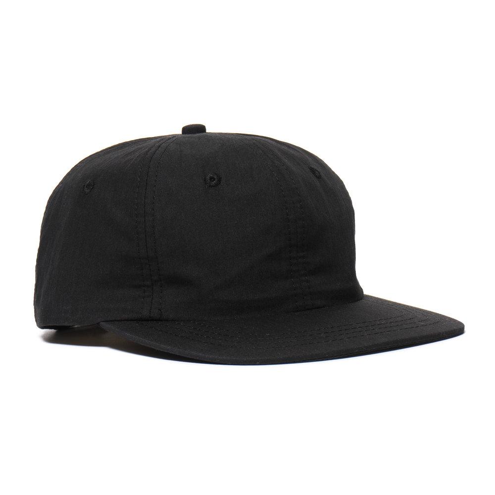 WEATHERCLOTH BALL CAP BLACK $100