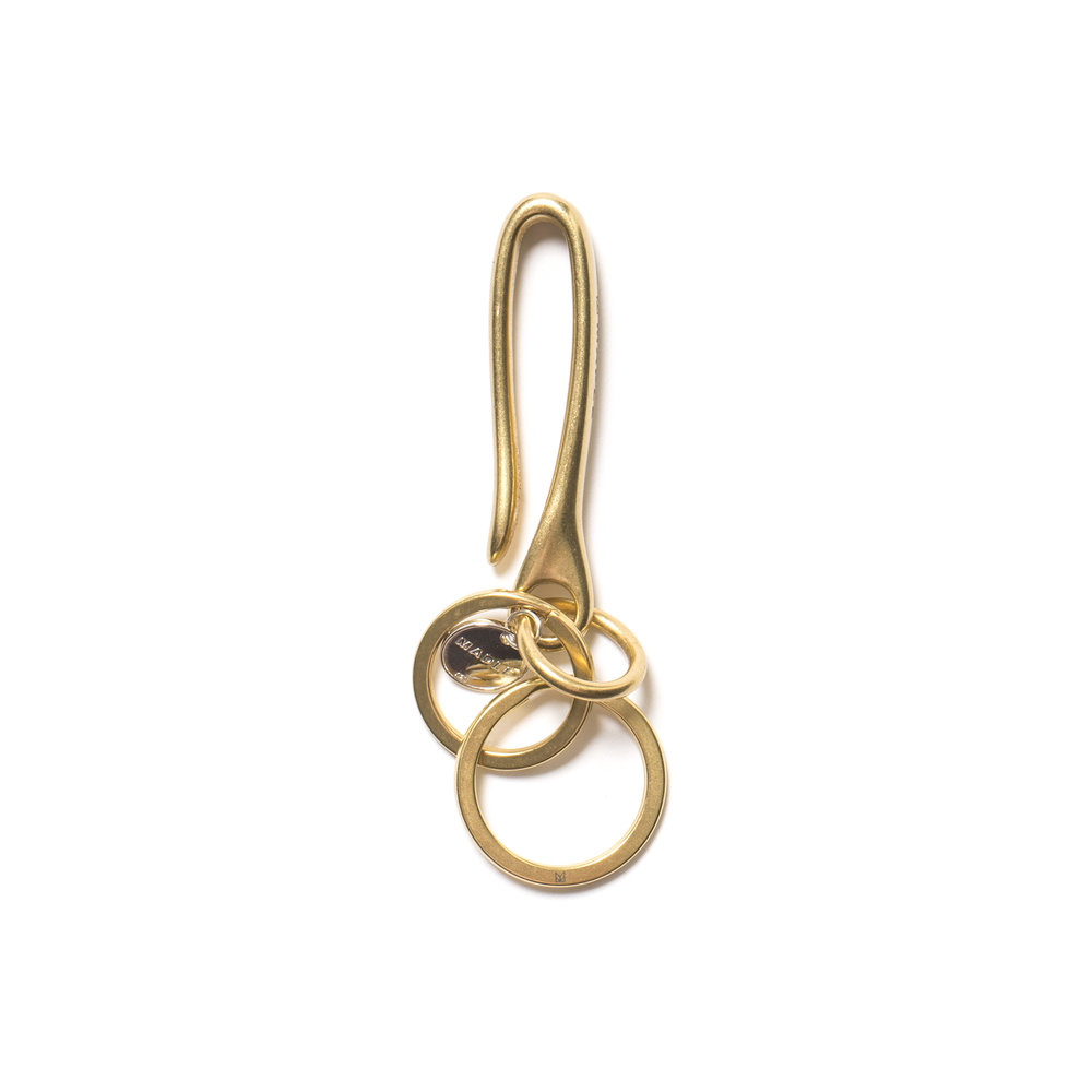 HOOPS KEY RING BRASS $105