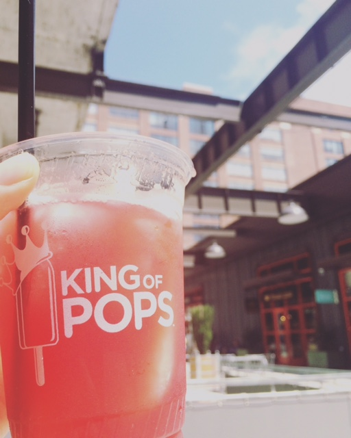 King of Pops (ice pop) infused cocktail at Ponce City Market