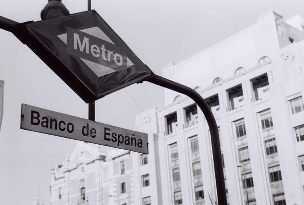 Metro stop signs along the street