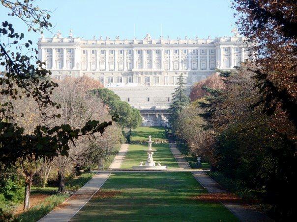 Royal Palace gardens at fall time