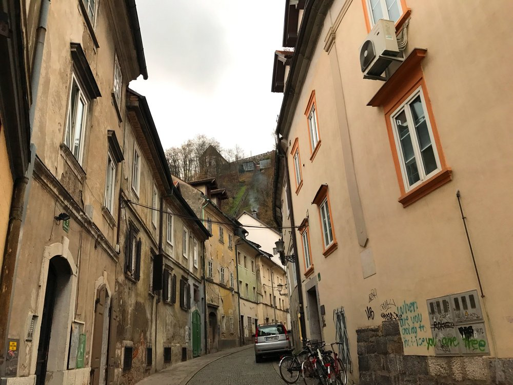 Alleyways are full of charm in Slovenia