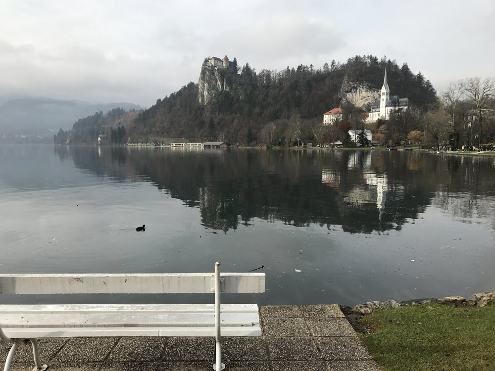 Lake Bled and the castle in the distance