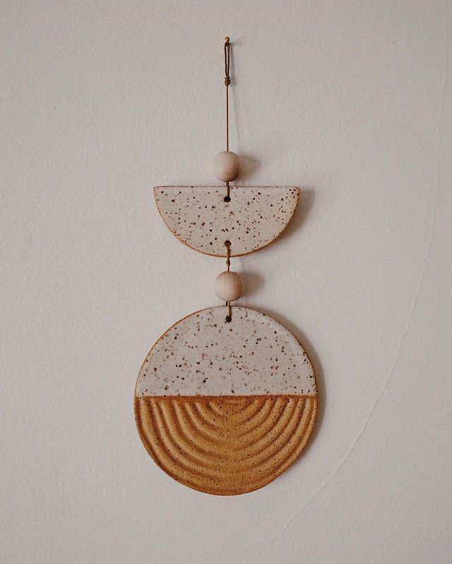 025 〰️ speckled buff clay, snowflake matte glaze, hemp cord, wooden beads