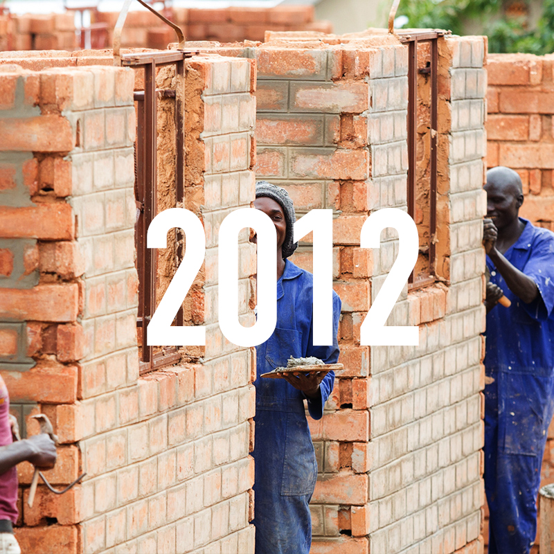Construction of second stage complete with 2 more classrooms, 2 health rooms and a storage area. Enrolment increases to 120 students from Pre-Primary to Primary 2 and 6 teachers. Agricultural projects begin, growing coffee, chillies and subsistence crops to feed the students and staff.