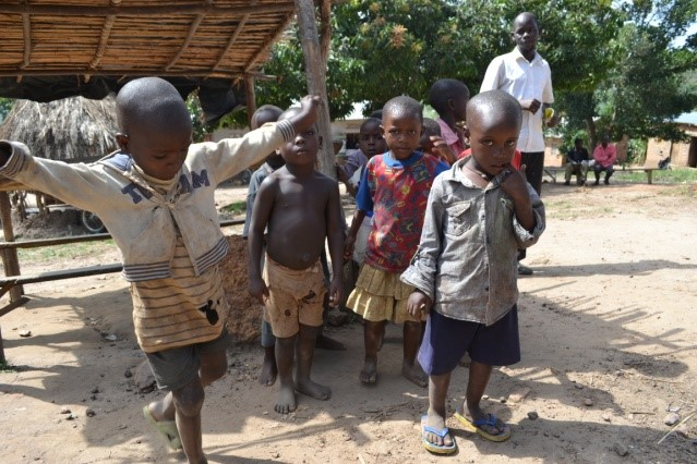 Children from Buzimwa village where the School for Life and Raising Voices workshop took place.