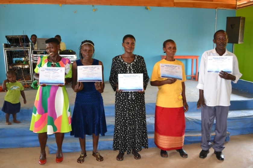 Winnie with her fellow Level 2 Adult Literacy Program graduates.