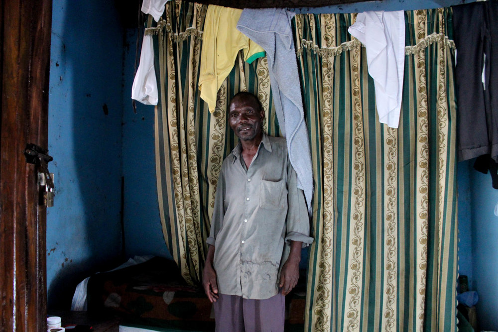 Goretti's uncle is a farmer. He keeps two cows and two goats on a small paddock next to his house, where he also grows crops which he sells in the local village to make a small income for his family.