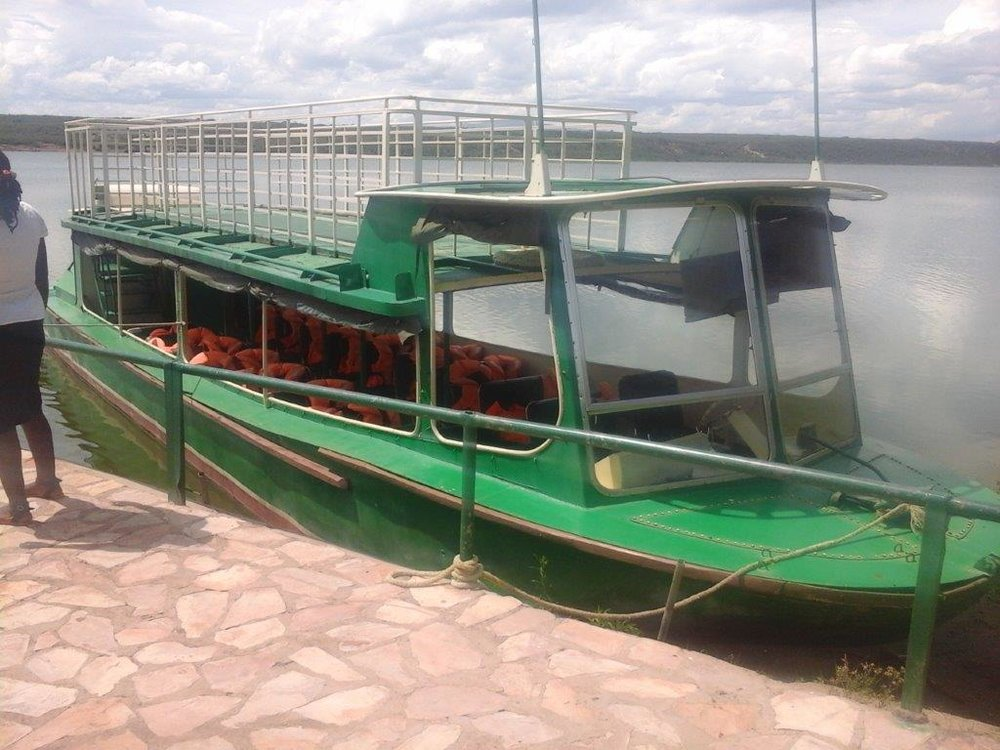 Kazinga channel's ferry.