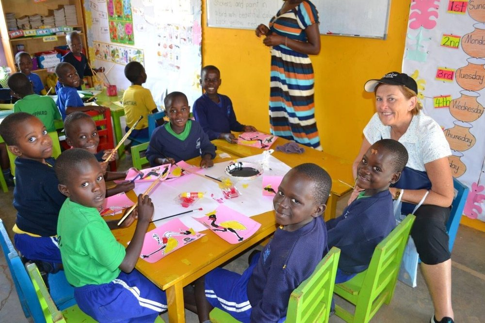 ENJOY ARTS & CRAFTS WITH <BR> OUR YOUNG STUDENTS