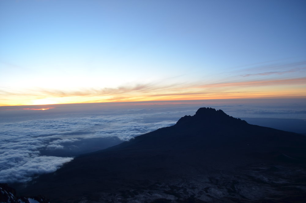 Watch the sun rise from Africa's <br> highest point.