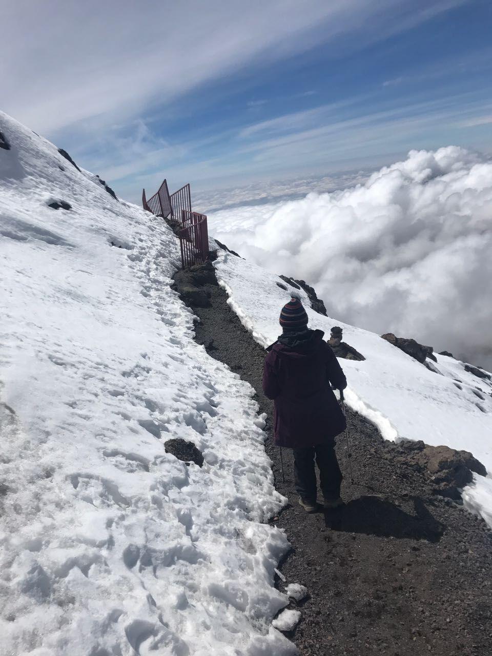 Take in the barren beauty of Kilimanjaro's <br> eastern icefields.