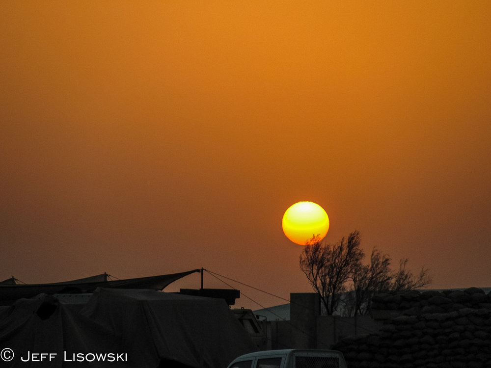 One of the final sunsets I saw in Iraq.