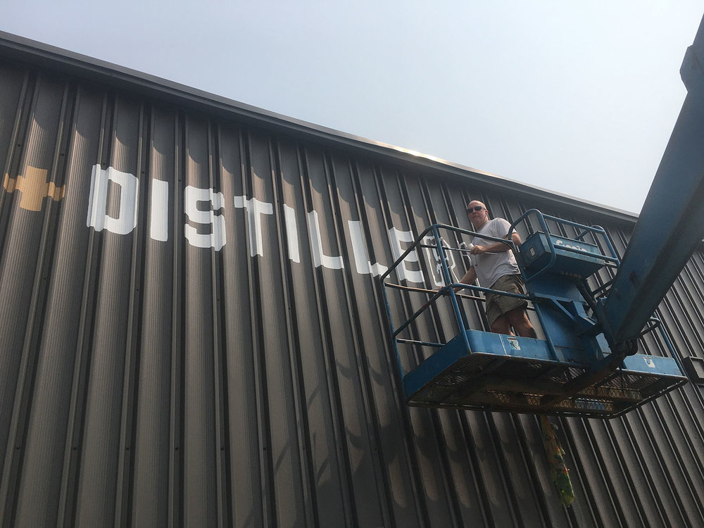 John up high hand lettering. It was a hot day!